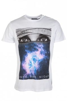 Blood Brother Into The Night T-Shirt White. #menswear #style #print #bold #statement #shop # online #designer #trend #mens #graphic