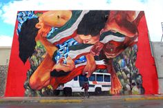 to commemorate 43 local students missing since 9/26/14 by Ever in Juarez, Mexico - 11/14 (LP)