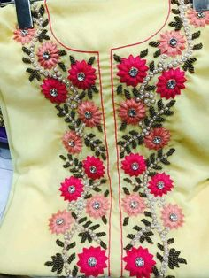 245 Best Embroidery Neck Designs Images In 2019 Embroidery
