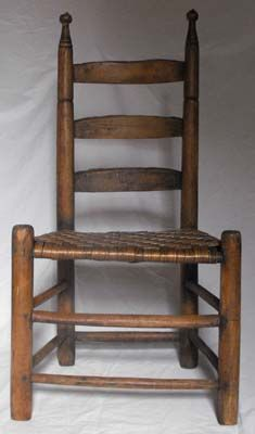 Shaker Ladder Back Chair Office Cushion Memory Foam Antique Mission Primitive W Woven Cane My Great Grandfather Used To Make These I Love The Way Seat Creaks When You Sit Down On It
