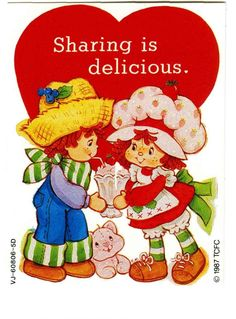 i had the complete strawberry shortcake set as a child it was divie