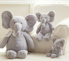 Elephant Plush Collection- I only want a few elephants in the room and these look perfect! #PotteryBarnKids