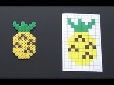 Cute Pineapple Perler Bead Pattern.  Laceys Crafts is all about sharing super simple and adorable crafts for kids. Enjoy!