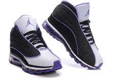 size 40 69c65 be212 Air Jordan 13 Net Women Shoes Black White Purple For Sale