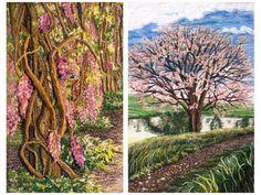 Красота природы в текстильной живописи Mitra McQuilton - Ярмарка Мастеров - ручная работа, handmade