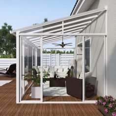 Wintergarten San Remo weiß When old in strategy, the pergola is encountering somewhat of Curved Pergola, Patio Gazebo, Pergola With Roof, Pergola Shade, Patio Roof, Patio Stone, Patio Privacy, Flagstone Patio, Small Spaces
