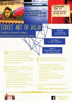 Street Art of Delhi / Sun 31 Jan 2016   1100 Walks
