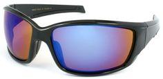 Edge I-Wear Sport / Racing Style Wrap Sunglasses with Revo Mirror Lens. 540420MT/REV(BLACK W/ BLUE REVO LENS) Edge I-Wear. $8.95