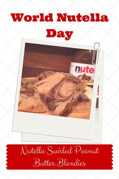 It's World Nutella Day! To celebrate I'm sharing a recipe I found the combines peanut butter and Nutella - one of my favourite combinations.