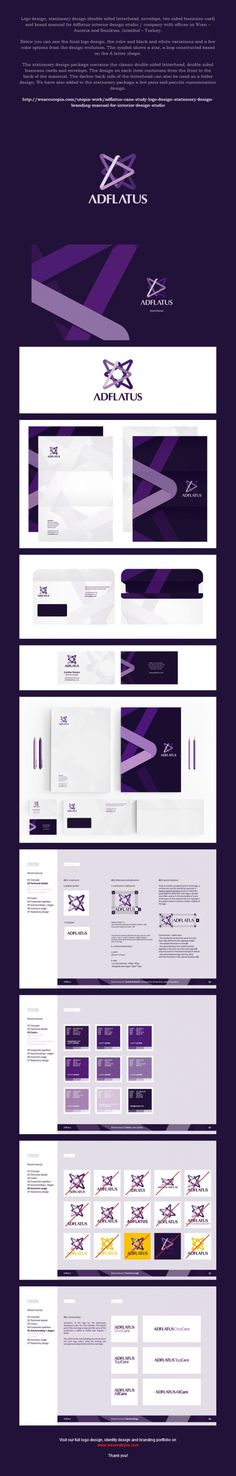 Adflatus logo and corporate identity design by Utopia Branding Agency