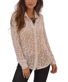 This White Semisheer Leopard Button-Up is perfect! #zulilyfinds