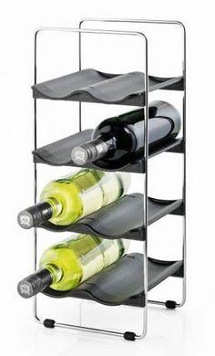 Foto: Wytworne wina, poukładane według gatunków i  roczników w Twoim domu? Dzięki stojakowi na wino firmy Blomus,   możesz zaaranżować w swojej kuchni takie magiczne miejsce.  http://www.home-form.pl/blomus-vinedo-stojak-na-wino-8-butelek-homeform-836