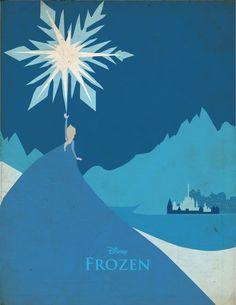 Frozen | 28 Posters minimalistas de Disney para el cuarto del bebé