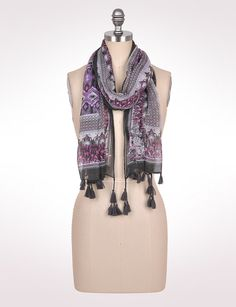 Accessories | Scarves & Wraps | Multi Pattern Ikat Scarf | dressbarn