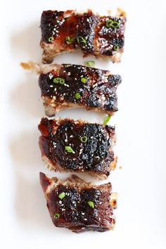 Salty but sweet and covered in a delicious sticky sauce - our Sticky Asian Ribs will be your new BBQ staple. Sticky Ribs Recipe, Ribs Recipe Oven, Pork And Beef Recipe, Ribs In Oven, Rib Recipes, Real Food Recipes, Recipies, Healthy Recipes, Asian Ribs