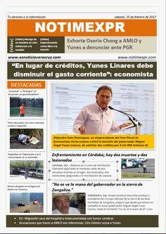 La Información más destacada con NOTIMEXPR Sabado 25 de Febrero - http://www.esnoticiaveracruz.com/la-informacion-mas-destacada-con-notimexpr-sabado-25-de-febrero/