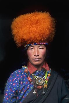 Man from Litang, a county in the sw of Garze Tibetan Autonomous Prefecture, w Sichuan Province of sw China. // photo by Steve McCurry