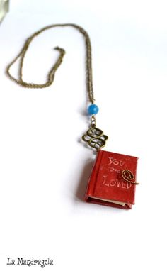#book #necklace