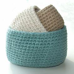 Cotone ovale Storage Bins Crochet Pattern PDF di knotsewcute