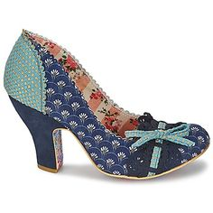 Escarpins Irregular Choice MAKE MY DAY Bleu 350x350