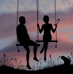 #cute #swing #couple