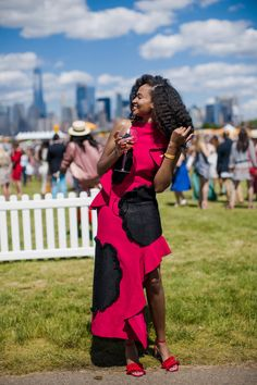 Cheers to chic! - Street Style at the 10th Annual Veuve Clicquot Polo Classic Was On Another Level of Fly | ESSENCE.COM