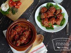 Paleo Crockpot Meatballs | Once A Month Meals | Freezer Cooking | OAMC