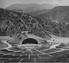 CENTRAL L.A. | HOLLYWOOD HILLS:  The first shell at The Hollywood Bowl | Historic photography of Hollywood.