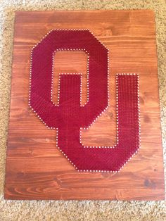 String art sports logo Oklahoma Sooners *FREE SHIPPING* by ThingsStringed on Etsy