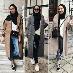 Mixing and matching hijabi outfits – Just Trendy Girls – Hijab Fashion Modern Hijab Fashion, Street Hijab Fashion, Hijab Fashion Inspiration, Muslim Fashion, Modest Fashion, Modest Clothing, Ootd Fashion, Casual Hijab Outfit, Hijab Chic