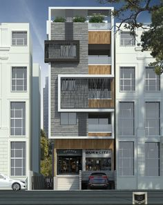 Office Building Architecture, Facade Architecture, Residential Architecture, Building Design, House Outer Design, House Front Design, 3 Storey House Design, Bungalow House Design, Modern Townhouse