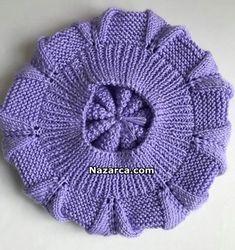 Crochet Kids Hats, Baby Hats Knitting, Cute Crochet, Baby Knitting Patterns, Knitting Designs, Hand Knitting, Crochet Patterns, Knitted Slippers, Knitted Hats