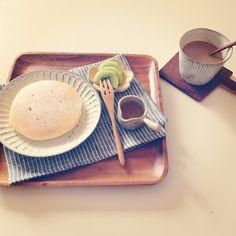 早起きしたので久しぶりにパンケーキで朝ごはん◡̈⃝ 昨日買ったものをさっそく使って♡  買ったものはすぐ使いたい派なんです´◡`  #パンケーキ#朝ごはん#朝食#pancake #鹿児島睦 #Padgram