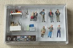 lot HO scale vintage model railroad miniatures, mini figures people & accessories #hotrainaccessories