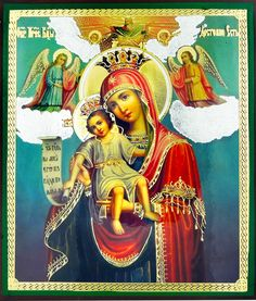 "Virgin Mary ""It Is Truly Meet"" (DOSTOINO EST), Gold and Silver Foil Icon - at Holy Trinity Store"