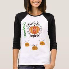 Personalized Grandma Pumkin Patch Tee - holidays diy custom design cyo holiday family