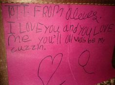 luv my cuzzin. (age 6)
