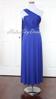 Bridesmaid Dress Royal blue Convertible Dress / infinity dress/ bridesmaids dress