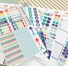 Weekly Planner Stickers Fiesta Color Scheme: Erin by SASPlans