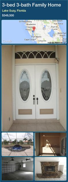 Properties for Sale - Family Home in Lake Suzy, Florida Entry Doors With Glass, Double Entry Doors, Fort Myers, Suzy, Custom Homes, Property For Sale, Home And Family, Florida, Magic