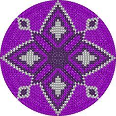 bodem purper ruiten heeft 200 steken Native Beading Patterns, Native Beadwork, Beaded Jewelry Patterns, Crochet Snowflake Pattern, Tapestry Crochet Patterns, Crochet Chart, Diy Crochet, Mochila Crochet, Tapestry Bag