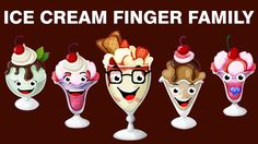 Finger Family Collection, Finger Family Song, Cartoon Kids, Cartoons, Ice Cream, Christmas Ornaments, Holiday Decor, Places, Animated Cartoons