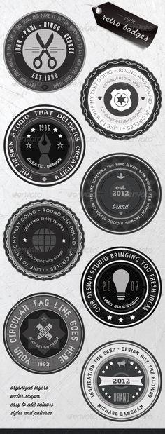 Retro Badges - Faded Vintage Labels - V.3 - GraphicRiver Item for Sale