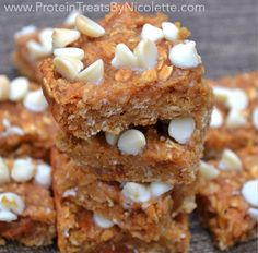 Protein Treats by Nicolette: Sweet Potato Cinnamon Roll Quest Bar Squares