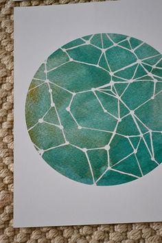 Watercolor constellation
