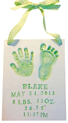 Newborn Baby Handprint Clay Keepsake - Memories In Clay