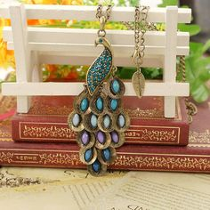 Beautiful peacock necklace by fenasd99321 on Etsy, $3.99