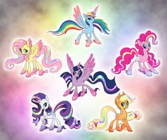 Alternate Rainbow Power Designs by salvicorn.deviantart.com on @deviantART