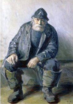 Michael Ancher-Skagen.  Fisherman.