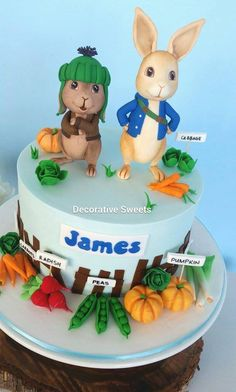 Peter Rabbit cake - by Decorative Sweets